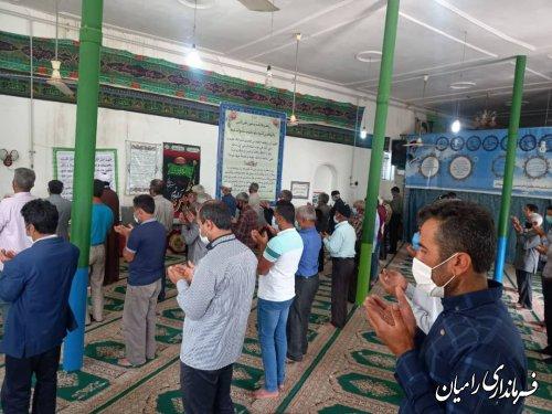 اقامه نماز عید سعید فطر در شهرستان رامیان