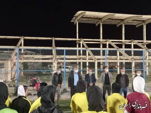 بازدید فرماندار از تمرینات تیم فوتبال بانوان استان
