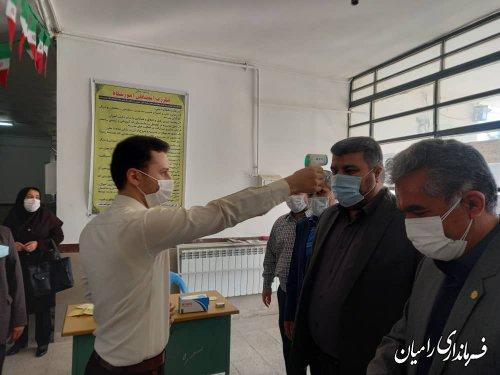 بازدید مشترک فرماندار و مدیرکل آموزش و پرورش گلستان از برگزاری امتحانات نهایی رامیان