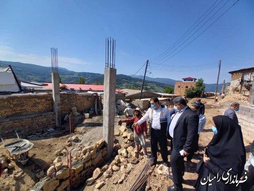 بسیج دستگاههای متولی برای بازسازی روستاهای زلزله زده رامیان