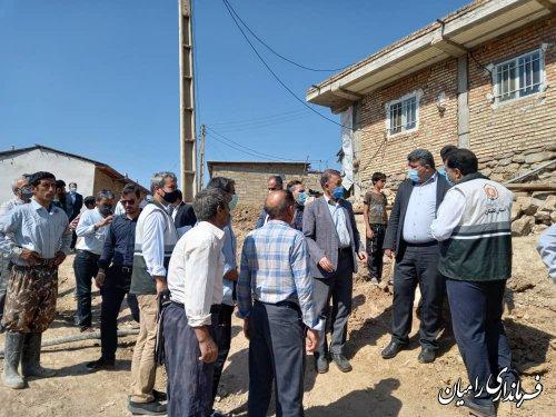 بسیج دستگاههای متولی برای بازسازی روستاهای زلزله زده ی رامیان