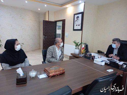 دیدار مسئول درمانگاه تامین اجتماعی شهرستان رامیان با فرماندار