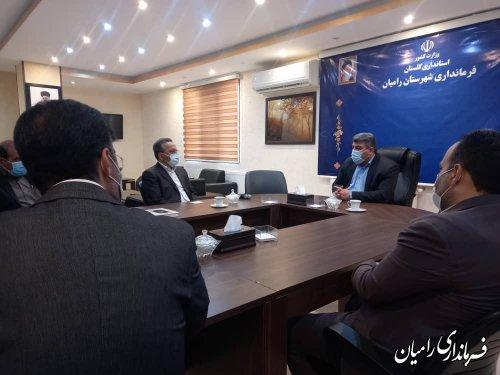 دیدار مدیرعامل شرکت معادن زغال سنگ البرز شرقی با فرماندار