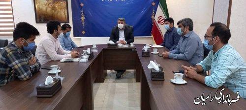 نشست جمعی از فعالان فضای مجازی شهرستان با فرماندار