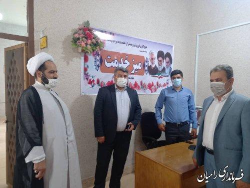 بازدید سرزده فرماندار از ادارات اوقاف و امور خیریه و بنیاد شهید و امور ایثارگران