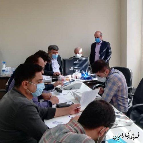 برگزاری دومین مانور انتخابات۱۴۰۰ در رامیان