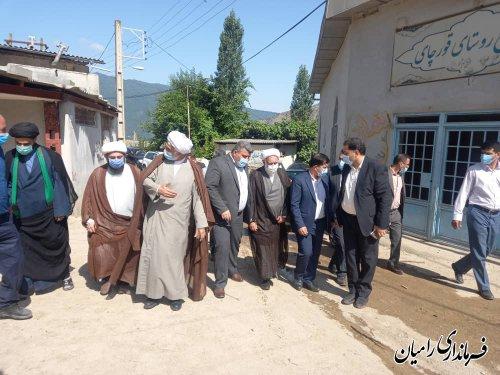 بازدید نماینده ولیفقیه در بنیاد مسکن انقلاب اسلامی از از روستای زلزله زده ی قورچای