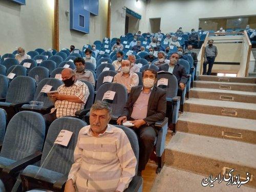 جلسه توجیهی نمایندگان فرماندار بخش مرکزی شهرستان رامیان برگزار شد.