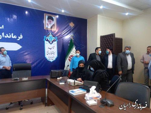 بازدید مشاور عالی استاندار و مدیرکل حراست استانداری از ستاد انتخابات شهرستان رامیان