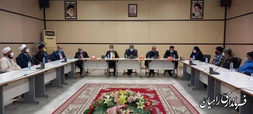 نشست انتخاباتی علمای شیعه و سنی و معتمدین و ریش سفیدان بخش مرکزی شهرستان رامیان
