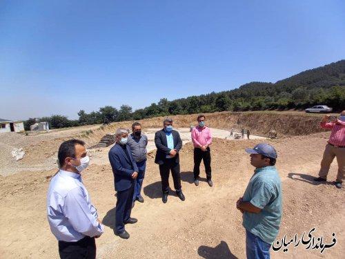 بازدید فرماندار و نماینده مجلس از پروژه احداث مخزن ۲۰۰۰ مترمکعبی آب شرب رامیان