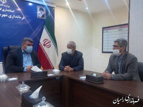 جلسه هماهنگی ساخت اداره و درمانگاه تامین اجتماعی شهرستان رامیان برگزار شد