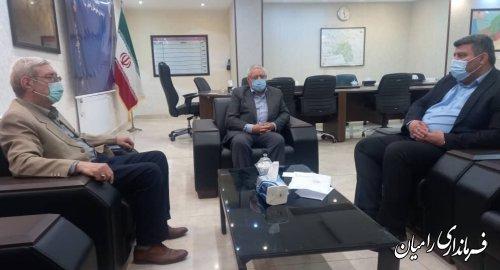 نشست مشترک فرماندار رامیان و بازرس هیات نظارت بر انتخابات استان در شهرستان رامیان