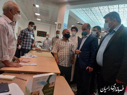 بازدید استاندار گلستان از شعب اخذ رای شهرستان رامیان