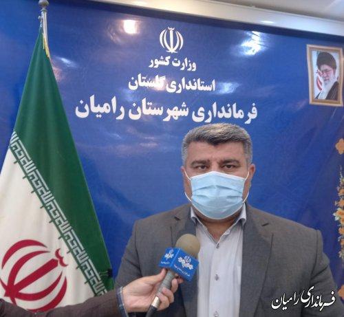مشارکت ۷۵درصدی رامیانی ها در انتخابات ۱۴۰۰