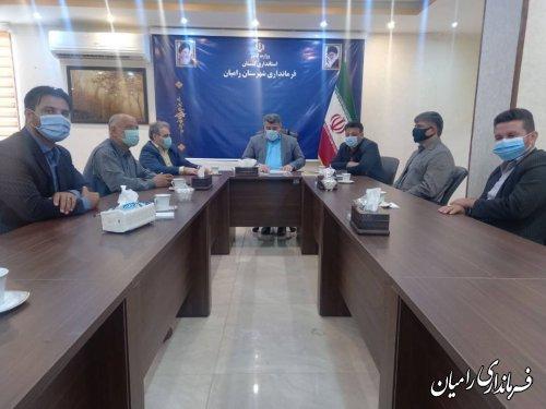 دیدار منتخبان شورای اسلامی شهر رامیان با فرماندار