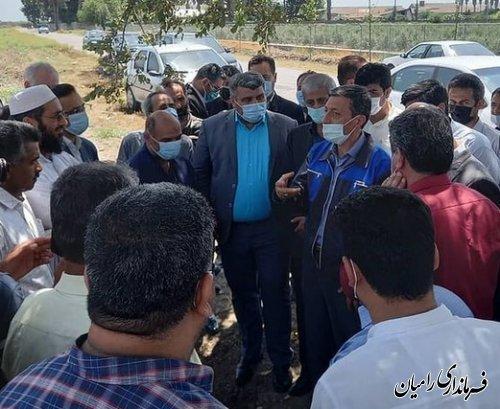 بازدید رییس بنیاد مستضعفان انقلاب اسلامی و استاندار گلستان از اراضی متعلق به این بنیاد در شهرستان رامیان