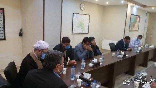 برگزاری جلسه ستاد استقبال و تدفین شهدای گمنام شهر دلند