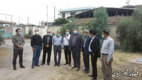 جلسه بررسی مشکلات آب شرب شهر خان ببین با حضور معاون بهره برداری سازمان آب وفاضلاب کشور