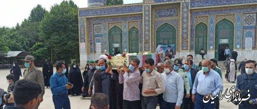 مراسم تشییع و تدفین شهدای گمنام دلند برگزار شد