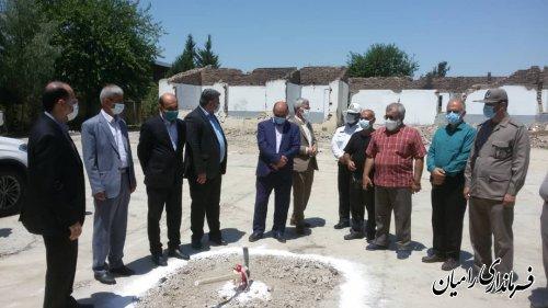 آغاز عملیات اجرایی تخریب وبازسازی مدرسه اندیشه شهر خان ببین