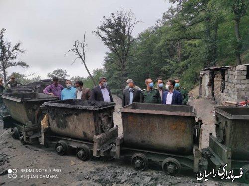 بازدید مسوولان شهرستانی از معادن زغال سنگ رامیان