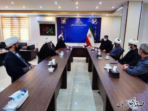 دیدار جمعی از مدیران و مسولان شهرستان رامیان با فرماندار به مناسبت هفته دولت