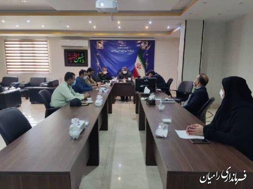 رامیان، تنها شهرستان دارای وضعیت زرد از نظر شیوع بیماری کرونا در استان