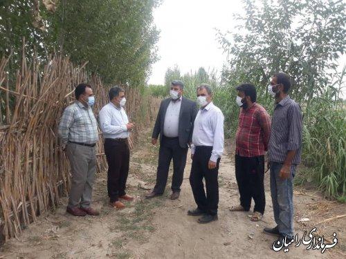 بازدید فرماندار رامیان از روستای فجر