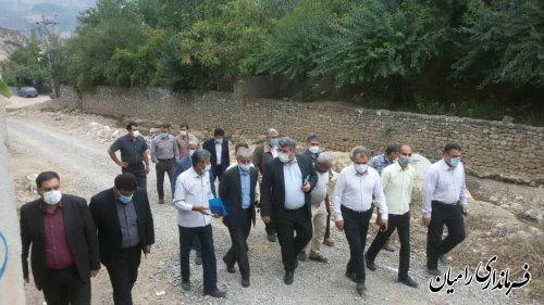 بازدید فرماندار از روستاهای پاقلعه، پل آرام،شش آب، باقرآبادوسیدکلاته