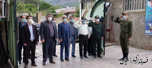 برگزاری مراسم صبحگاه مشترک نیروهای نظامی و انتظامی شهرستان رامیان